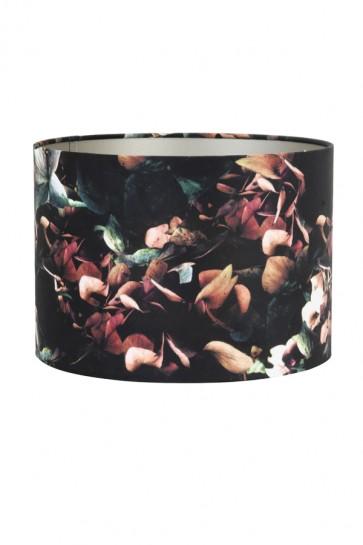 Tienidlo cylindrické 25-25-18 cm VELOURS hydrangea black