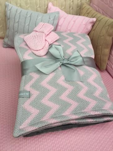 "Detská deka zimná ""Chevron"", rôzne farby, 85x120 cm"