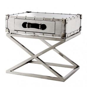 Bočný stolík Barclay polished aluminium