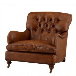 Klubové kreslo Caledonian tobacco leather
