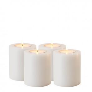Večná sviečka ø 8 x H. 9 cm set 4 ks