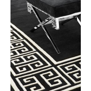 Koberec Apollo black & off-white 300 x 300 cm