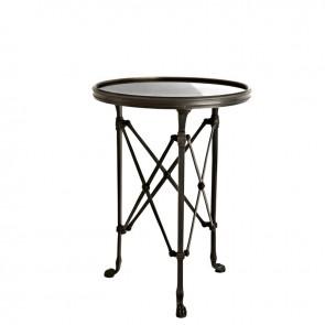 Bočný stolík St Etienne gunmetal bronze ø 42 cm