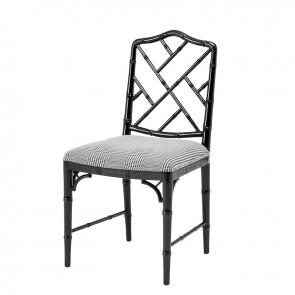 Jedálenská stolička Infinity piano black dixon black&whit