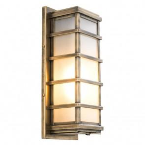 Nástenné svietidlo Welby antique brass finish