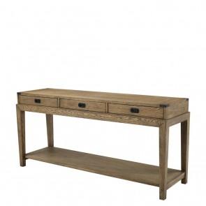 Konzolový stolík Military smoked oak finish