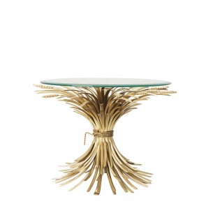 Bočný stolík Bonheur antique gold finish