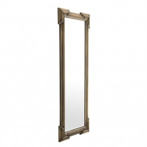 Zrkadlo Livorno antique brass finish 220 x 85 cm
