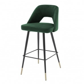 Barová stolička Avorio roche green velvet