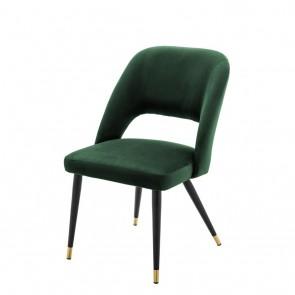 Jedálenská stolička Cipria roche green velvet