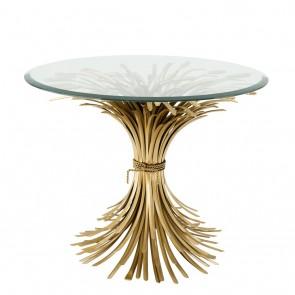 Bočný stolík Bonheur ø 90 x H. 70cm antique gold fin