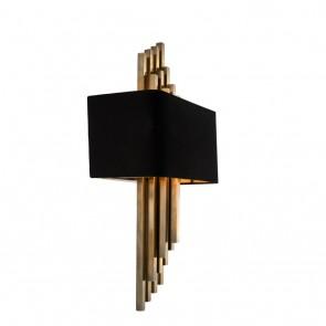 Nástenné svietidlo Caruso vintage brass finish incl Tienidlo