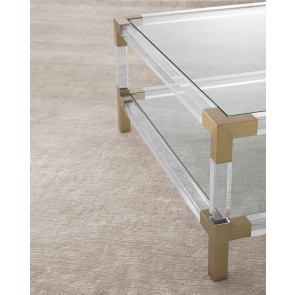 Koberec Liam silver sand viscose linen 300 x 400 cm