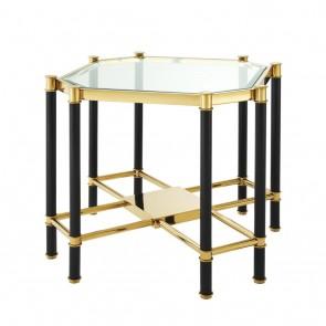 Bočný stolík Florence gold & black finish