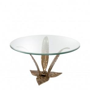 Kávový stolík Plantation vintage brass finish