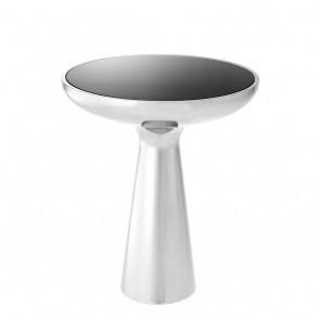Bočný stolík Lindos low polished stainless steel