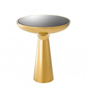 Bočný stolík Lindos low gold finish