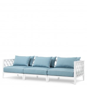 Vonkajšia sedačka Ocean Club modro-biela