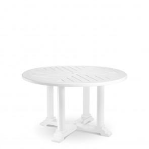 Jedálenský stôl Bell Rive biely, priemer 130 cm