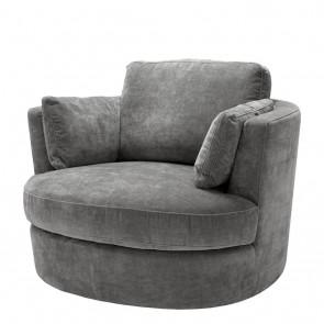 Otočná stolička Clarissa clarck grey