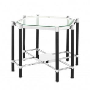 Bočný stolík Florence polished ss & black finish