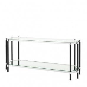 Konzolový stolík Florence polished ss & black finish
