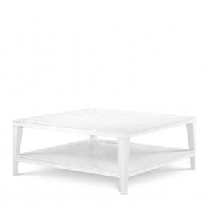 Kávový stolík Bell Rive biely štorcový