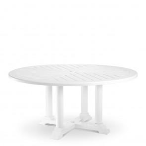 Jedálenský stôl Bell Rive biely, priemer 160 cm