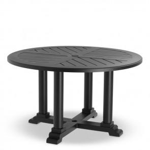 Jedálenský stôl Bell Rive čierny, priemer 130 cm