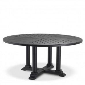 Jedálenský stôl Bell Rive čierny, priemer 160 cm