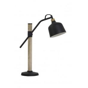 Stolné svietidlo E14 30x16x44 cm BANU wood black