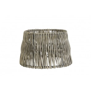 Tienidlo okrúhle rovné 25-20-16 cm ROTAN vertical weaving grey