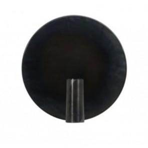 Nástenné svietidlo Ø25 cm DISC black