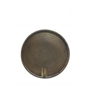 Nástenné svietidlo Ø30x14 cm SPIRASH antique bronze spiral