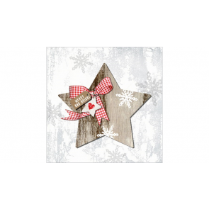 Papierové servítky Country Xmas Star, 33x33cm 20ks
