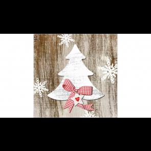 Papierové servítky Country Xmas Tree, 33x33cm 20ks