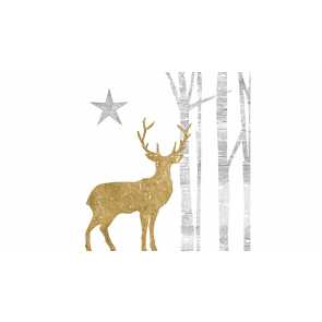 Papierové servítky Mystic Deer, 33x33cm 20ks