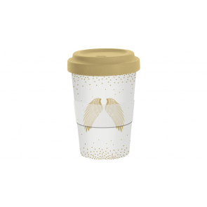 Bambusový cestovný hrnček na kávu Holy Wings