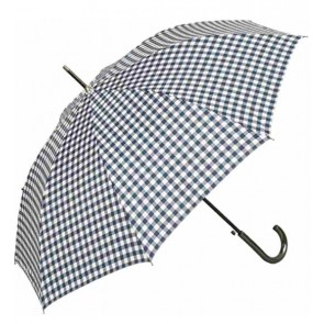 Dáždnik modro-biele káro, výška 81 cm
