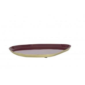 Miska 25x21 cm MOULET dark purple-antique bronze