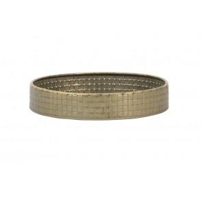 Podnos Ø30x6,5 cm STAVO tin bronze