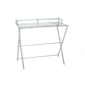 Konzolový stolík 89x50x83 cm SALINAS glass nickel