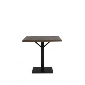 Jedálenský stôl 80x80x78 cm CHISA wood brown-black