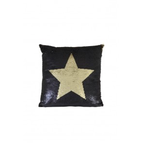 Vankúš 45x45 cm STAR black gold