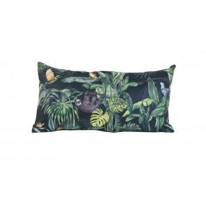 Vankúš 60x30 cm KURANDA print black-green