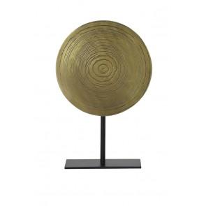 Ornament na podstavci Ø25x38 cm SASIM ant bronze spiral-matt blac