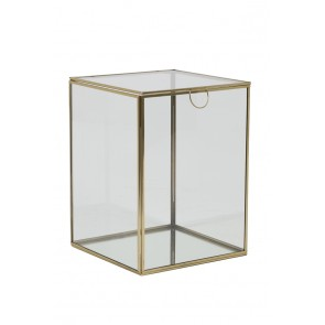 Box deko 20x20x26,5 cm MIRINA gold-Zrkadlo