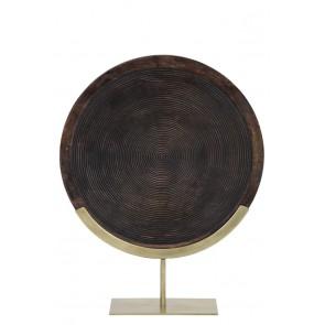Ornament na podstavci 45x12x57 cm KAMUDI wood brown-antique bronz