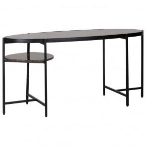 Písací stôl Dalton, hnedý mramor Emperador