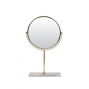 Zrkadlo on base 24x9x40,5 cm RIESCO marble pink-gold